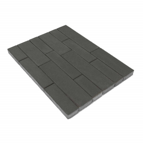 Плитка тротуарная BRAER Домино, Серый, h=60 мм
