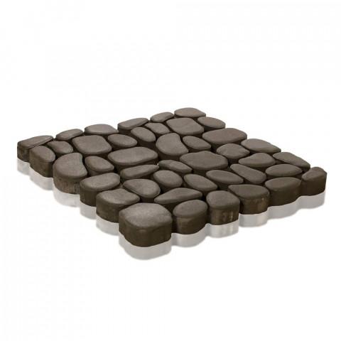 Плитка тротуарная Грин Галет, Серый, h=80 мм