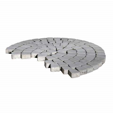 Плитка тротуарная BRAER Классико круговая, Серый, h=60 мм