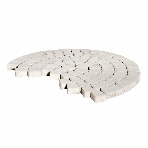 Плитка тротуарная BRAER Классико круговая, Белый, h=60 мм
