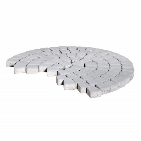 Плитка тротуарная BRAER Классико круговая, Серебристый, h=60 мм