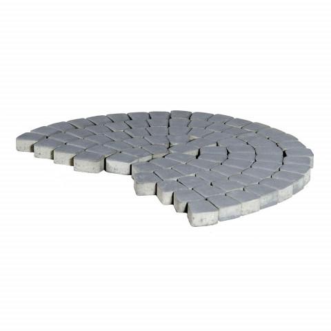 Плитка тротуарная BRAER Классико круговая, Грифильный, h=60 мм