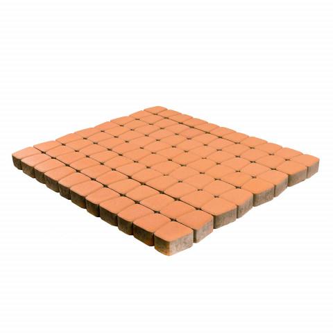 Плитка тротуарная BRAER Классико круговая, Коралловый, h=60 мм