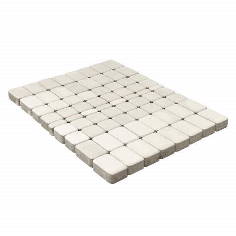 Плитка тротуарная BRAER Классико, Белый, h=60 мм