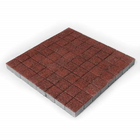 Плитка тротуарная BRAER Лувр, Гранит красный, h=60 мм