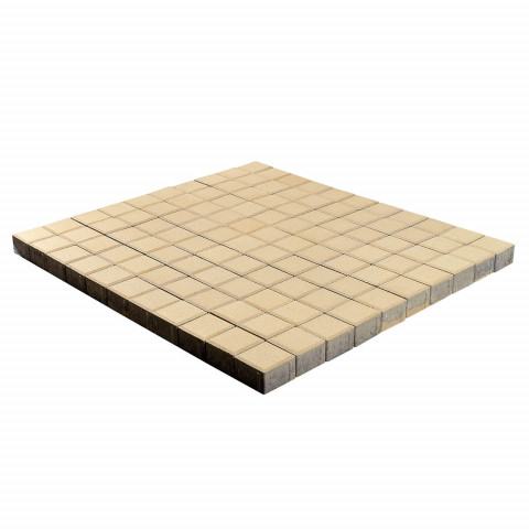 Плитка тротуарная BRAER Лувр, Песочный, h=60 мм, 100х100