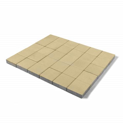 Плитка тротуарная BRAER Лувр, Песочный, h=60 мм, 200x200