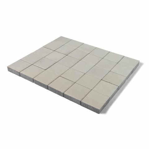 Плитка тротуарная BRAER Лувр, Белый, h=60 мм