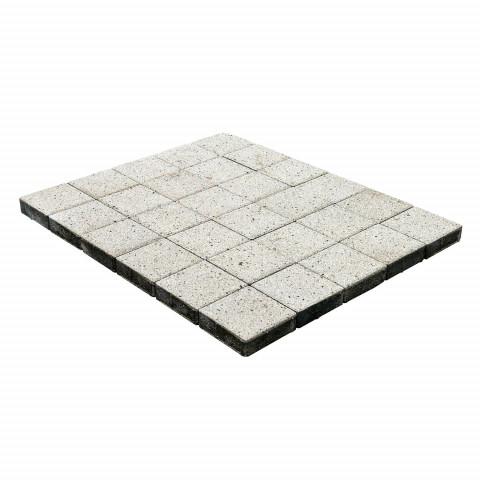 Плитка тротуарная BRAER Лувр, Гранит белый, h=60 мм