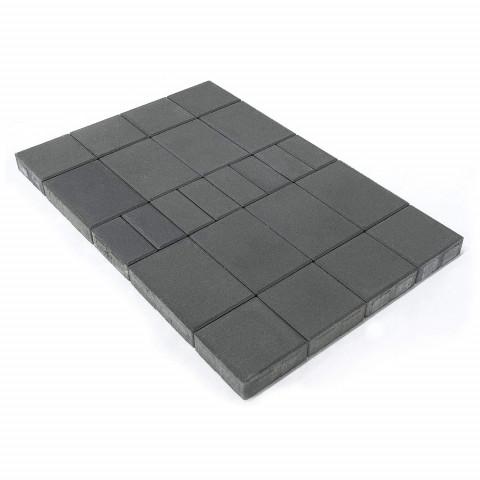 Плитка тротуарная BRAER Мозаика, Серый, h=60 мм