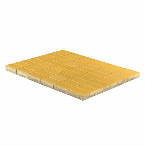 Плитка тротуарная BRAER Прямоугольник, Желтый, h=60 мм