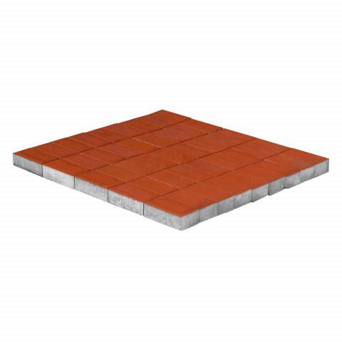 Плитка тротуарная BRAER Прямоугольник, Красный, h=60 мм