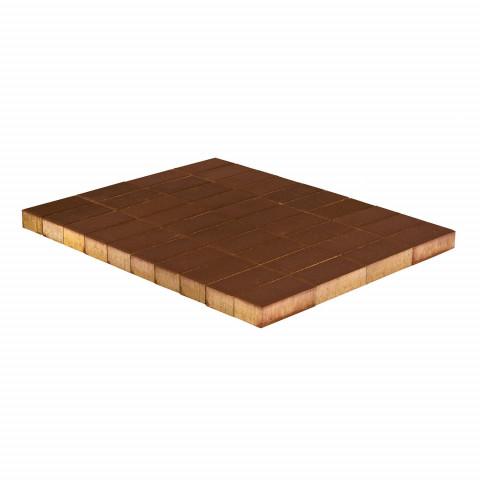 Плитка тротуарная BRAER Прямоугольник, Коричневый, 200x100, h=60 мм