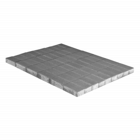 Плитка тротуарная BRAER Прямоугольник, Серый, h=70 мм, двухслойная