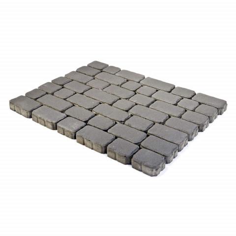 Плитка тротуарная BRAER Ривьера, Серый, h=60 мм
