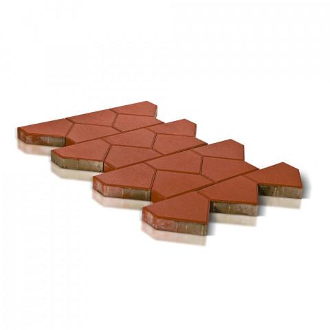 Плитка тротуарная BRAER Тиара, красный, h=60 мм