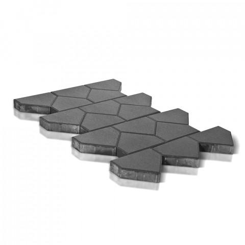 Плитка тротуарная BRAER Тиара, серый, h=60 мм