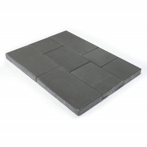 Плитка тротуарная BRAER Триада, Серый, h=60 мм