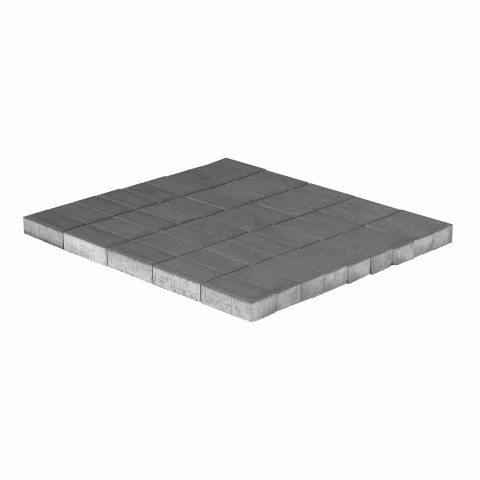 Плитка тротуарная BRAER Прямоугольник, Серый, h=40 мм, двухслойная
