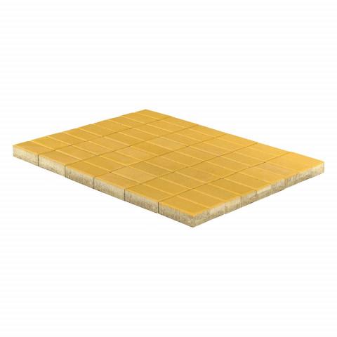 Плитка тротуарная BRAER Прямоугольник, Желтый, h=40 мм