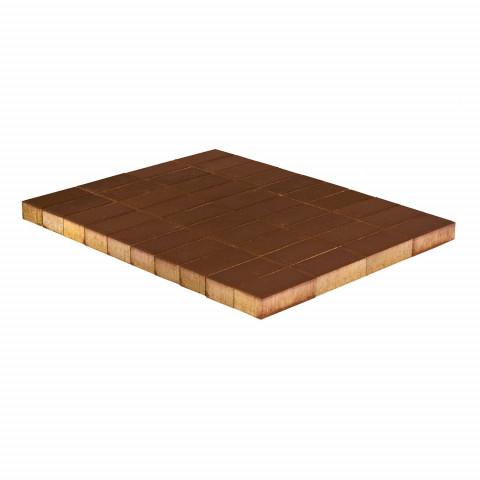 Плитка тротуарная BRAER Прямоугольник, Коричневый, h=40 мм