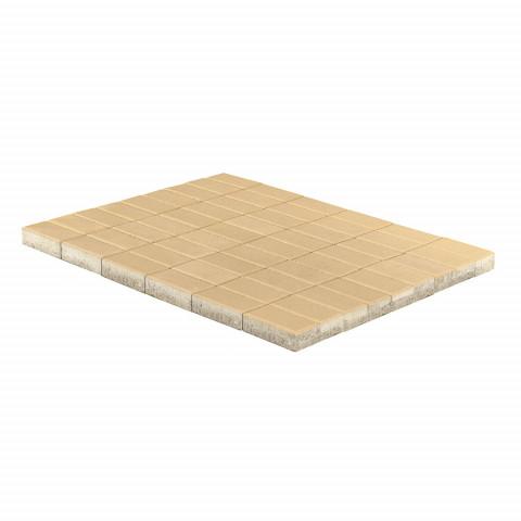 Плитка тротуарная BRAER Прямоугольник, Песочный, h=40 мм