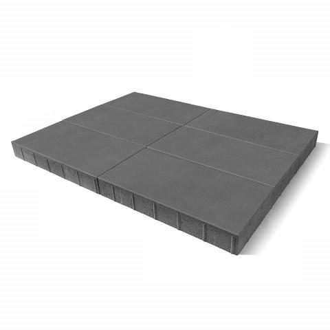 Плитка тротуарная BRAER Сити, серый, h=80 мм