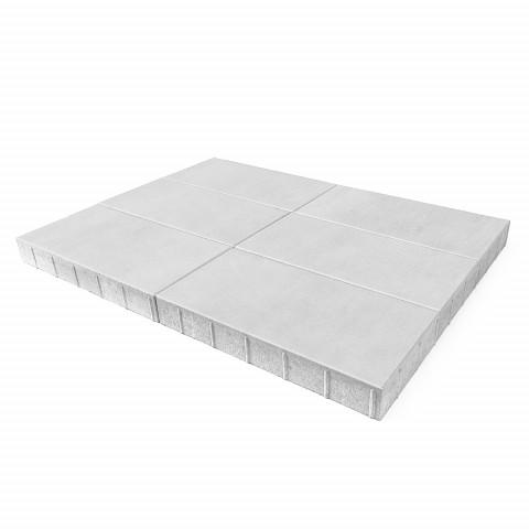 Плитка тротуарная BRAER Сити, белый, h=80 мм